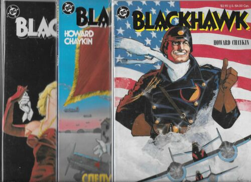 BLACKHAWK #1-#3 GRAPHIC NOVEL SET NM- HOWARD CHAYKIN
