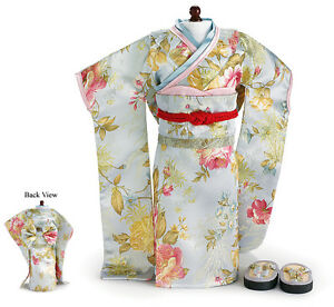 Sun-Japanese-Kimono-and-Shoes-fit-18-inch-American-Girl-Dolls-amp-Our-Generation