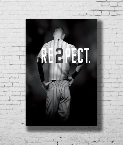 24x36 14x21 40 Poster Derek Jeter Respect  NY Yankees Art Hot P-3878