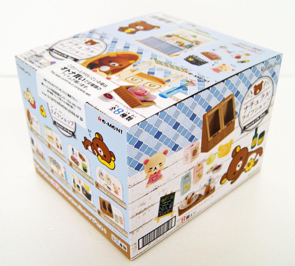 Re-Ment 171968 Rilakkuma Natural Life Tienda 1 Box 8 Figurilla Juego Completo