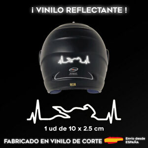 VINILO-CARDIOMOTO-BLANCO-REFLECTANTE-STICKER-PEGATINA-MOTO-CASCO-ADHESIVO