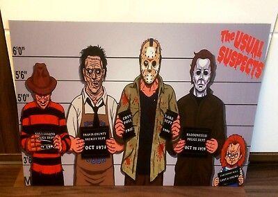 Jason Freddy Krueger Michael Myers Chucky Bild/picture 37x50 äSthetisches Aussehen Leatherface