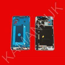 SILVER FRONTALE LCD Telaio Alloggiamento in Metallo Lunetta CENTRALE SAMSUNG GALAXY NOTE 3 N9005