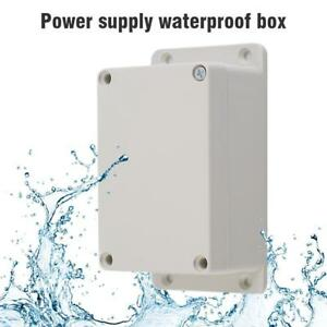 White Waterproof Plastic Electronic Project Box Enclosure Case 100×68×50MM AD