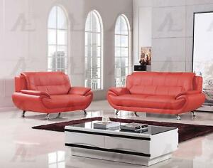 Strange Details About Red Faux Leather Sofa And Loveseat Set 2 Pcs American Eagle Ae208 Red Evergreenethics Interior Chair Design Evergreenethicsorg