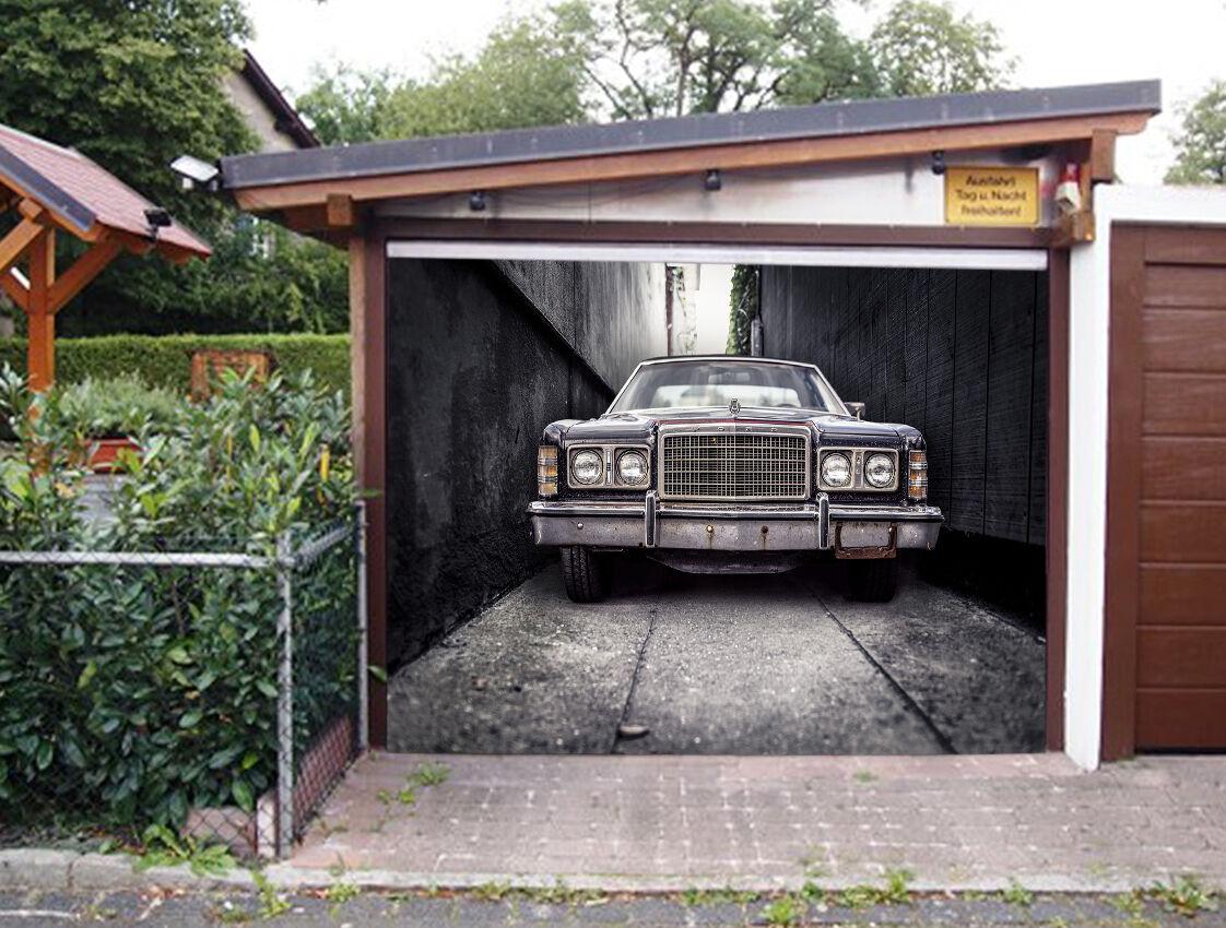 3D Street, car 66 Garage Door Murals Wall Print Decal Wall Deco AJ WALLPAPER UK