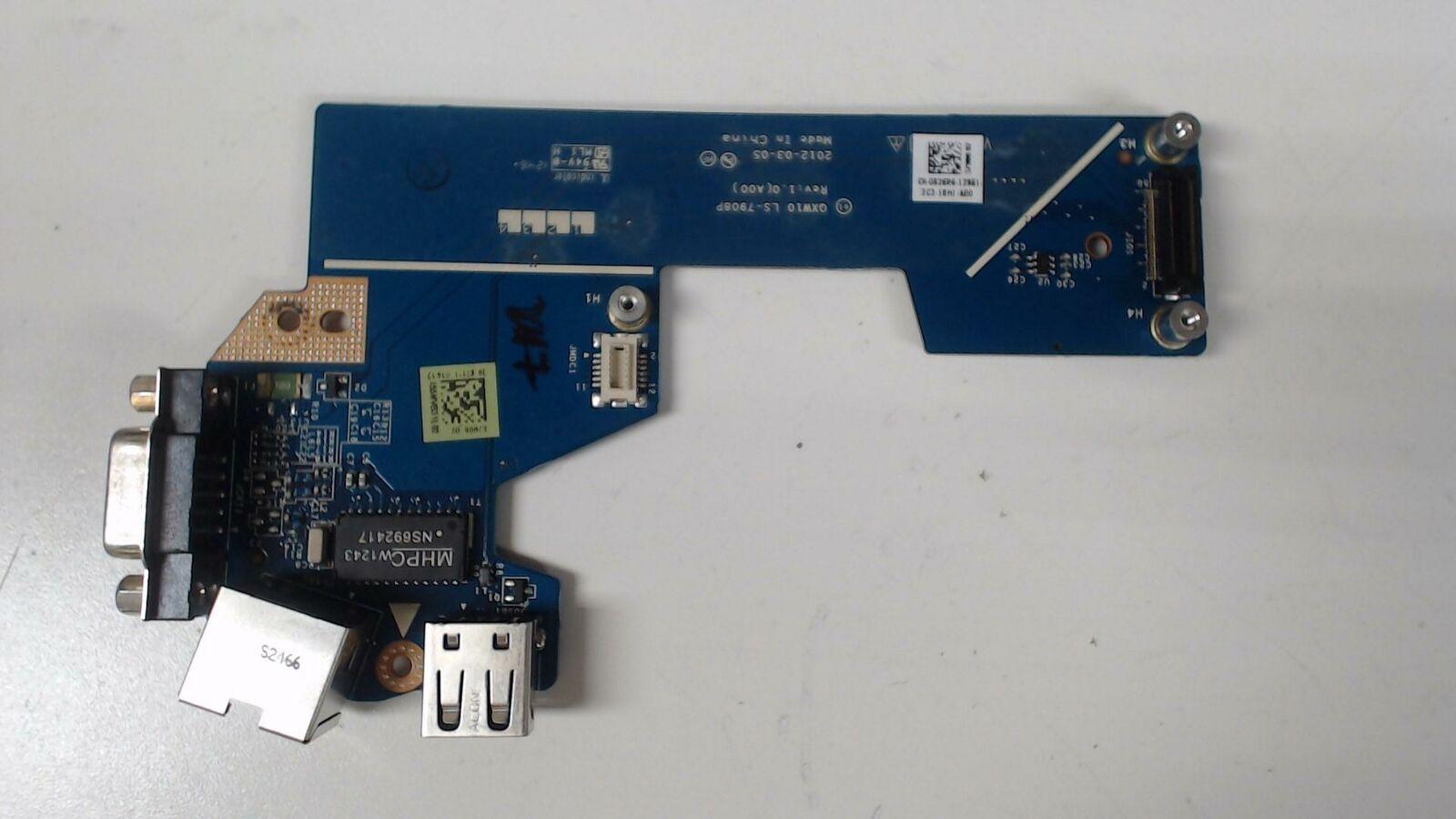 Dell Latitude E5530 Ethernet USB VGA Board 826R6 0826R6 LS-7908P