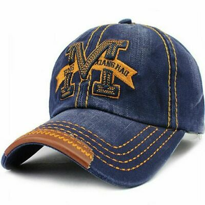 AKIZON Men's Adjustable Cotton Baseball Cap Fashion Style Embroidery Letter | eBay