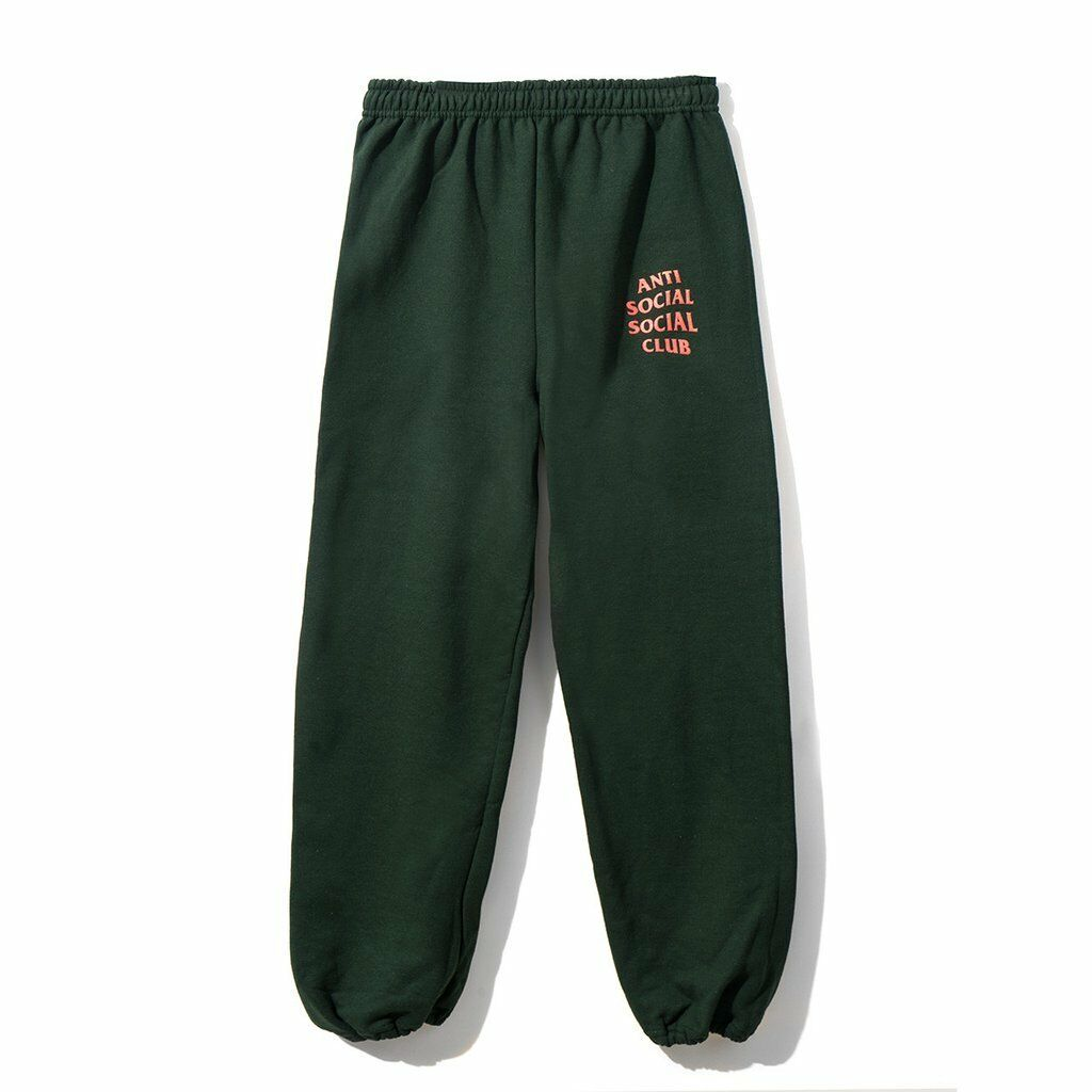 Anti Social Social Club ASSC Logo Cure Sweat Pants Green   orange Size XL