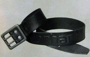Carhartt Logo Belt Vollleder Gürtel mit Logo Schwarz 2217 NEU