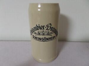 alter 1 L Bierkrug Maßkrug Weizenbier Brauerei Rheingönheim