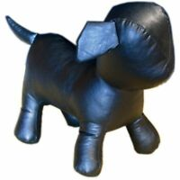 Mn-359 Black Standing Small Leatherette Dog Puppy Plush Mannequin Doll