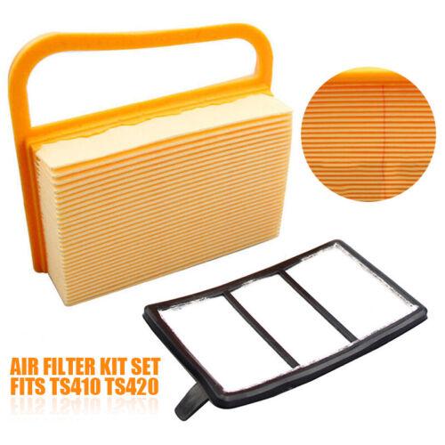 Luftfilterset passend für Stihl  TS420 TS410 Air filter Kettensäge Luftfilter DE