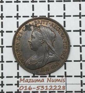 Mazuma *FC04 Great Britain Victoria 1899 Half Penny AUNC BN