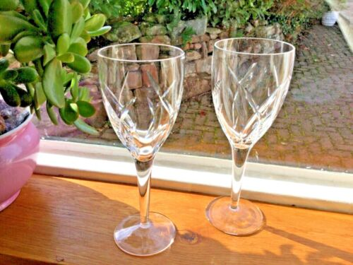 """10"""" Waterford Crystal Glasses John Rocha Signature Collection RARE."""