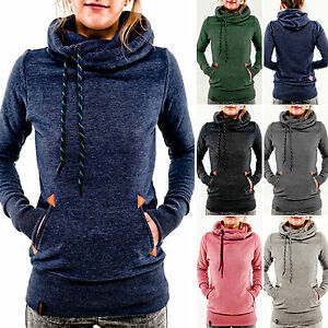 Women-039-s-Winter-Hoodie-Hooded-Long-Sleeve-Sweatshirt-Sweater-Pullover-Jumper-Tops