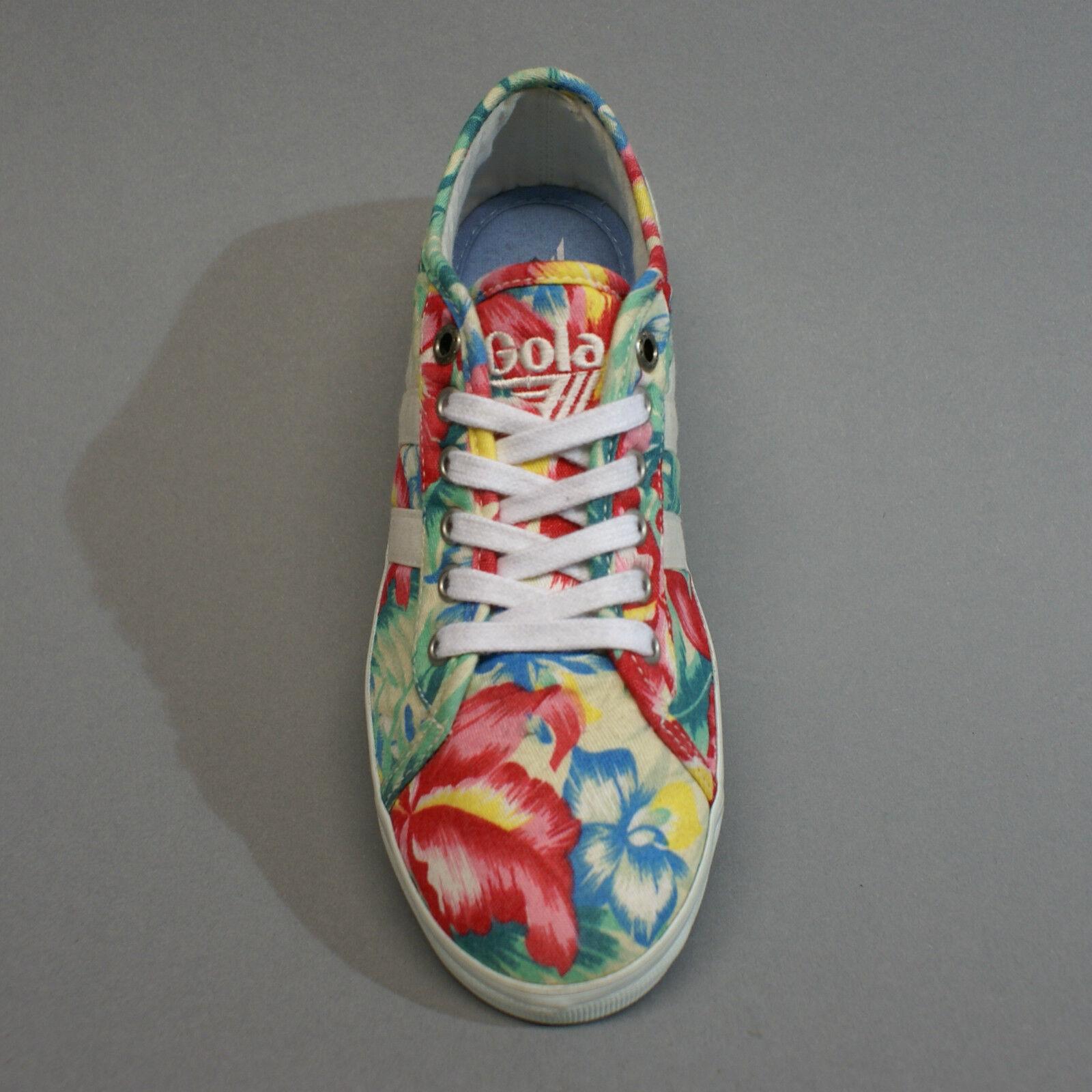 Gola Jasmine Hibiscus Hibiscus Hibiscus Ecru Multi CLA131 Turnschuhe Sneakers Büten Blumen Gr. 37 1c9248