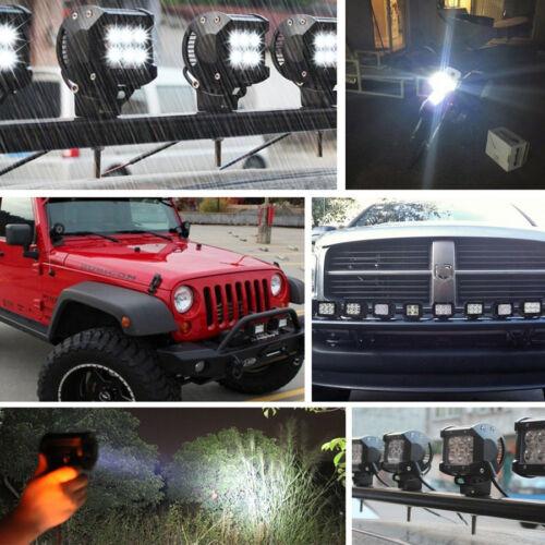 2pcs 18W LED Work Light Bar Flood Beam Off road Driving Fog Lamp ATV SUV UTE 4WD