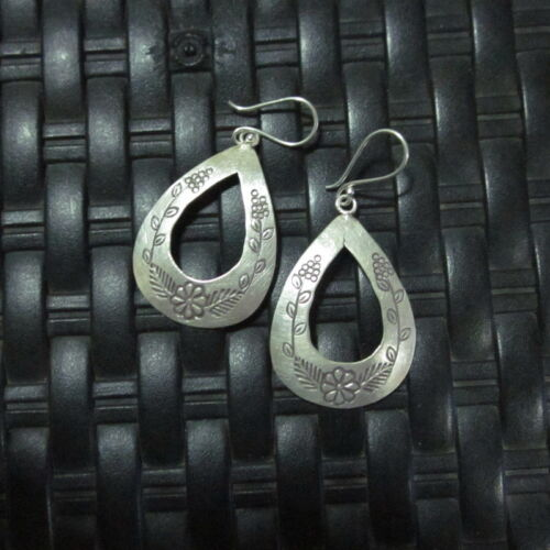 Fine Argent Boucles d/'oreilles Hill Tribe KAREN Tribal Ohrringe Fashion Drop Dangle CS2812