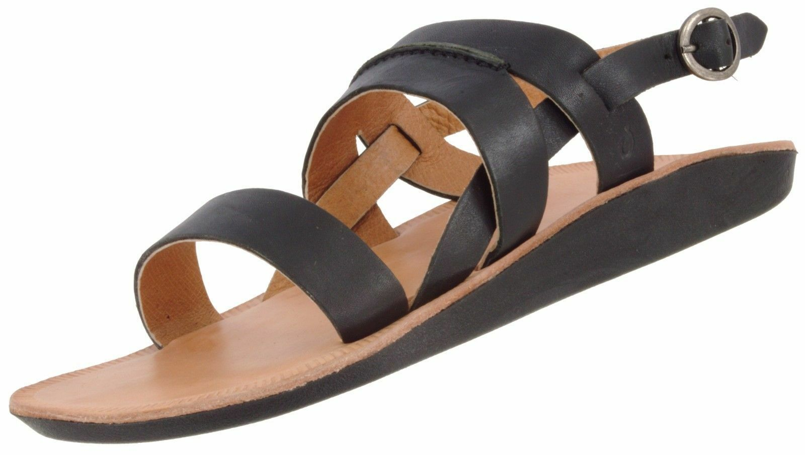 OLUKAI  LEOA WOMEN'S LEATHER STRAPPY OPEN TOE SANDALS W/ STRAP 11 W