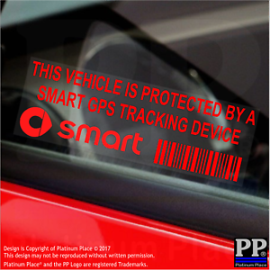 5-x-RED-SMART-GPS-Tracking-Device-Stickers-Vehicle-Fortwo-Alarm-Tracker-Security