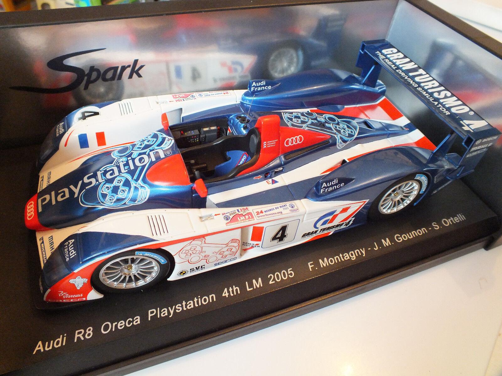 SPARK- S1803-I R8 Oreca Playstation N° 4 F. Montagnyi 4th Le Mans 2005