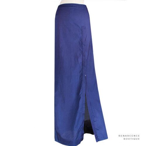 taille Branquinho Veronique haute en coton bleue longue Uk6 It38 Jupe fin à 8ar6qadwn
