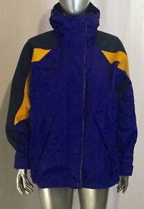 Femmes Columbia Bleu Petit Jacket Up Taille Zip Jaune Vintage 5ZwxdP5