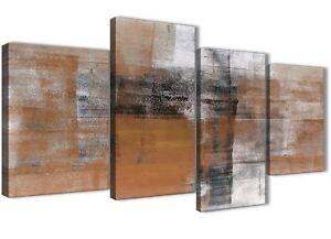 Détails sur Grand Orange Noir Blanc Peinture Abstrait Salon Toile - 4398 -  130 cm- afficher le titre d\'origine