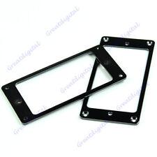 1 Pair Flat Humbucker Pickup Mounting Frame Rings For LP Electric Guitar Black