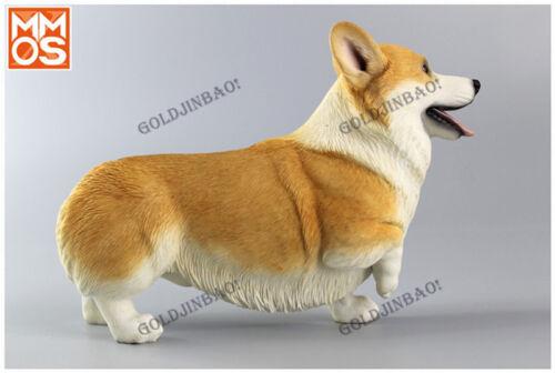 1//6 Scale Corgi Model Doll Accessories Pet Dog Statue Car decoration Display New