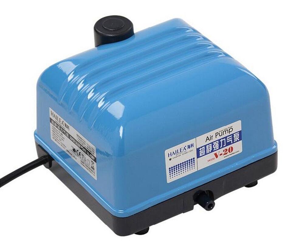 Hailea Air Pump, V-20 15W 20L Min Aquarium Hydroponics Koi Fish Pond AU Plug