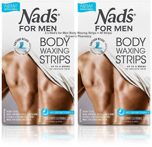 2 X Original Nad S For Men Hair Removal Body Waxing Strips 40