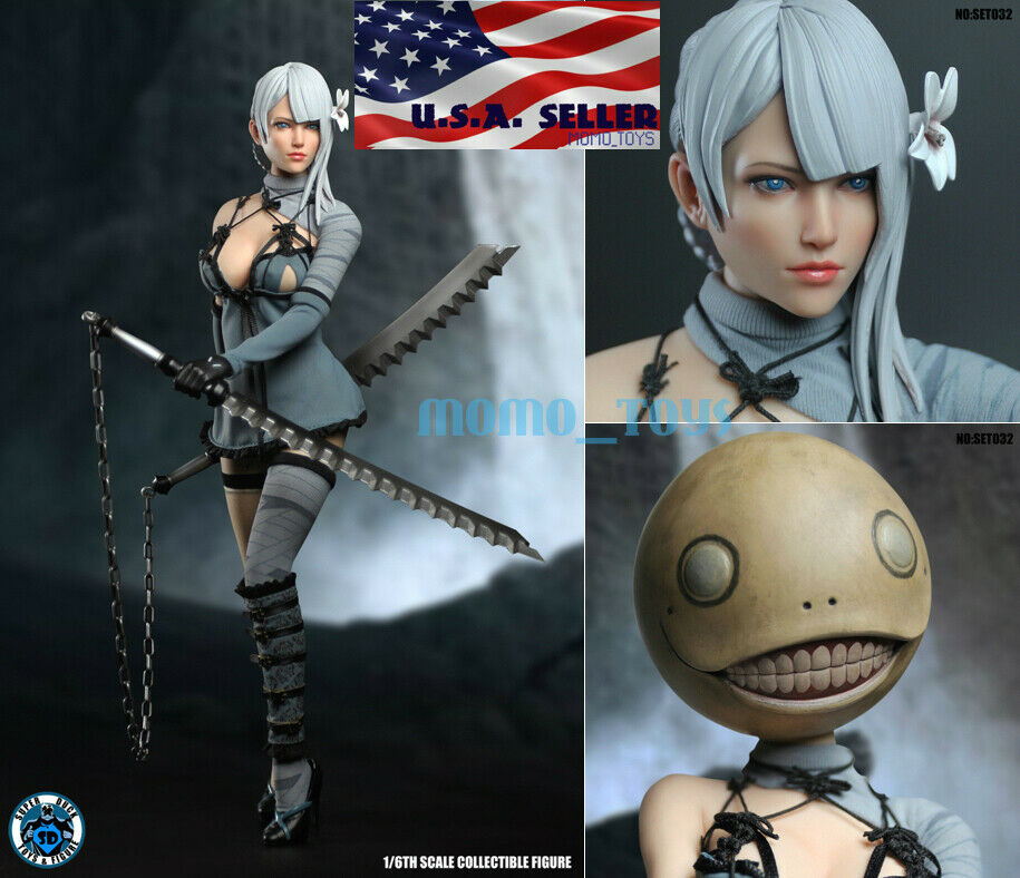 1 6 Nier Automata YoRHa No.2 Type B Head Sculpt Costumes Set For PHICEN ❶USA❶