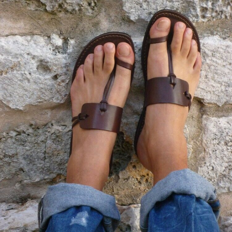 Fashion Women Outdoor Beach Sandals Gladiator Rome Toe Ring Backless Slippers