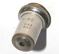 Soviet Lens Objective For Microscope 40x 065 017 Progress Omz