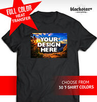 Custom Made Personalized T-shirt / Full Color Heat Transfers / Your Own Design