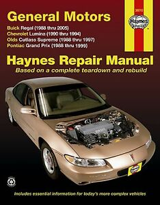 buick regal chevy lumina olds cutlass pontiac grand prix haynes rh ebay co uk 2000 buick regal repair manual pdf buick regal repair manual