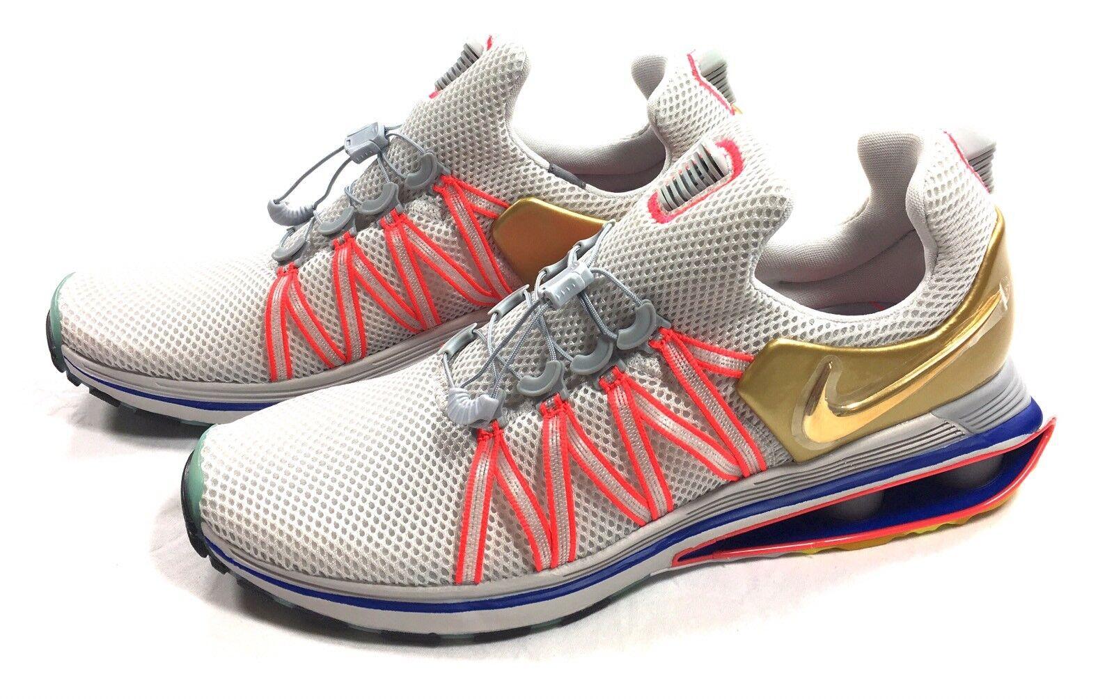 Nike Shox Gravity Men's Shoes Vast Grey Metallic Gold AQ8553-009