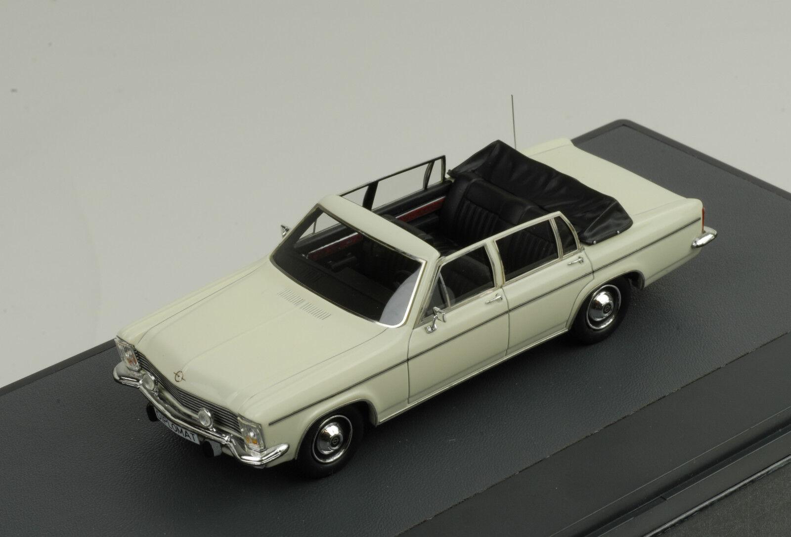 1971 Opel Diplomat 5.4 Fissore Descapotable Cabriolet blancoo blancoo 1 43 Matrix