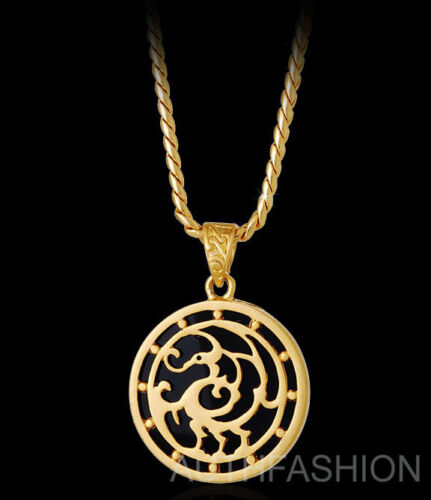 18k Gold Plated Mens LEGENDARY BIRD Pendant Chain Necklace Hiphop Gift Idea #36