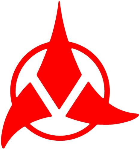 Star Trek Klingon Insigne Badge Autocollant Vinyle Autocollant Voiture Van Ordinateur Portable Tablette mural