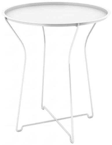 """Dar Metal Side Table, White 38436135 Side Table 18"""" x 18"""" x 20.8"""" NEW"""