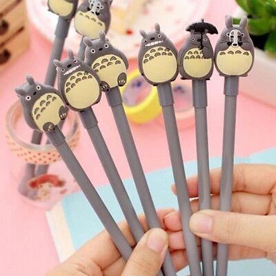 5pcs/Lot My Neighbour Totoro Cute Kawaii Ballpoint Black Ink Gel Pen Cute Gift