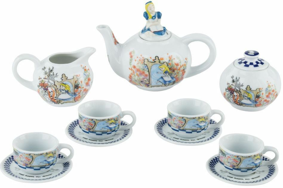 Cardew Alice in Wonderland - Through the the the Looking Glass miniature teapot tea set b71352