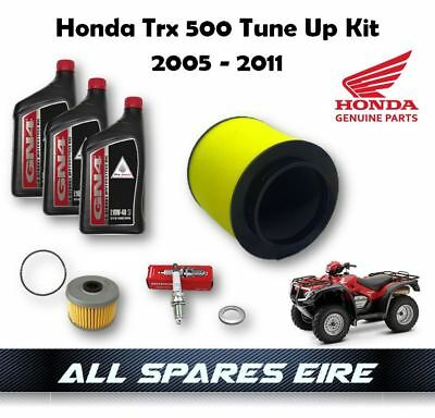 Tune Up Kit OEM Air Filter Oil Filter Spark Plug for Honda Foreman Rubicon 500 TRX500