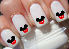 Disney Mickey Mouse Ears Nail Decals Set Of 20 For Sale Online Ebay