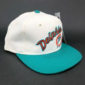 Vintage-Maimi-Dolphins-Sports-Specialties-Fitted-Hat-The-Pro-Script-Logo-White