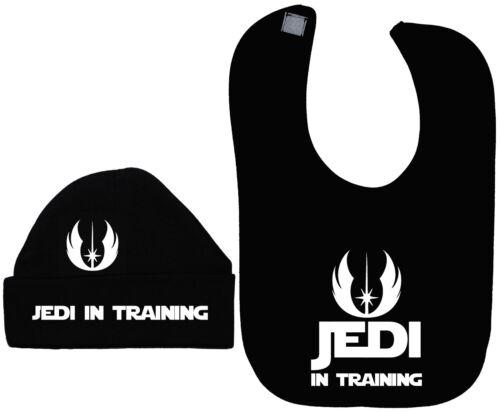 Jedi en entrenamiento Bebé Alimentación Bib /& Sombrero//Gorra NB a 12m Star Wars Niño Niña Unisex