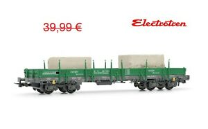 H0-1-87-escala-Electrotren-E-5192-RENFE-tren-vagon-loaded-with-2-marble-blocks